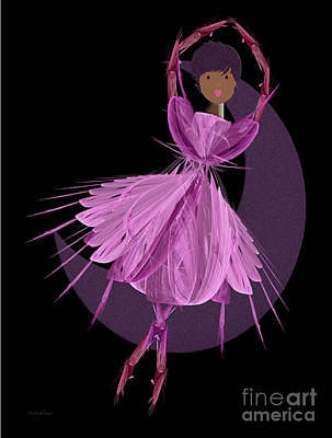 Dancing With The Moon B Art Print by Andee Design