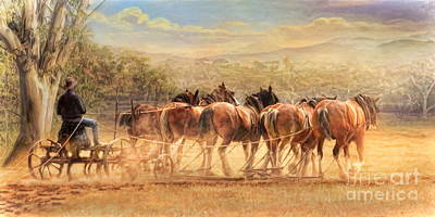 Days In The Dust Art Print by Trudi Simmonds