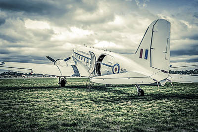Transportion Photograph -  Dc-3 Or C-47 by Chris Smith