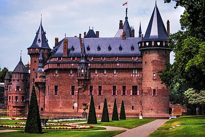 Peaceful Scene Photograph -  De Haar Castle 4. Utrecht. Netherlands by Jenny Rainbow