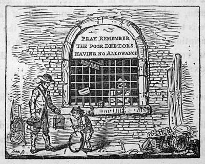 Grate Drawing -  Debtor's Grate         Date 1820 by Mary Evans Picture Library