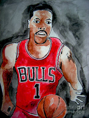 Painting -  Derrick Rose by Sidney Holmes