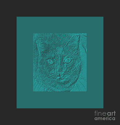 Digital Art -  Deserve Compliment. Portrait Of Cat by Oksana Semenchenko