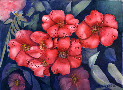 Painting -  Dew Flowers by Jane Ricker