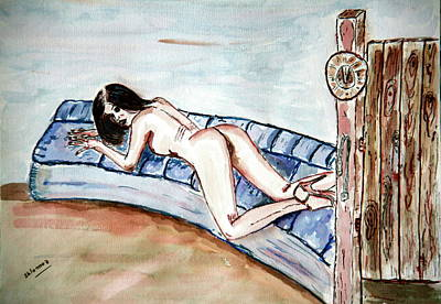 Dezeere   Passion. Art Print by Shlomo Zangilevitch
