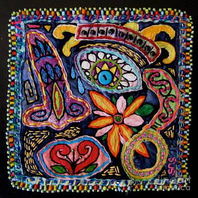 Tapestry - Textile -  Dia De Los Muertos  by Susan Sorrell