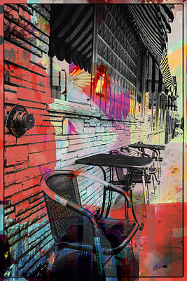 Convention Digital Art -  Dining In Sunshine  by Susan Stone