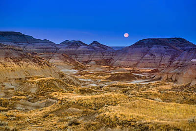 Photograph -  Dinosaur Harvest Moon by Rob Tullis