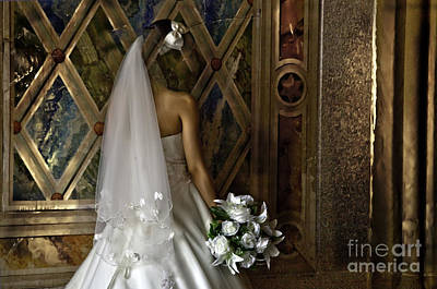Bridal Gown Photograph -  Disappearing  by Madeline Ellis