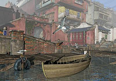 Dock Dispute Art Print