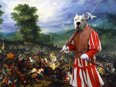 Painting -  Dogo Argentino Art Canvas Print - For King And Queen by Sandra Sij