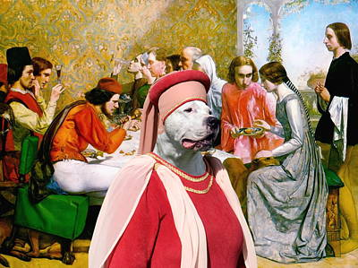 Painting -  Dogo Argentino Art Canvas Print - Lorenzo And Isabella by Sandra Sij