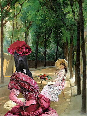 Painting -  Dogo Canario - Perro De Presa Canario Art Canvas Print - A Lazy Afternoon by Sandra Sij