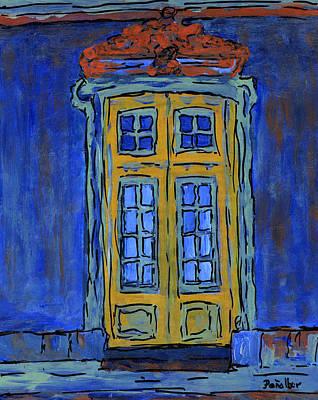 Venice Painting -  Door On Blue  by Oscar Penalber