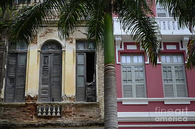 Old Door Photograph -  Doors And Windows Recife Brazil 1 by Bob Christopher