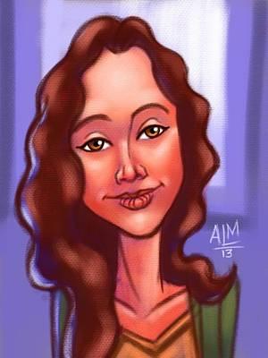 Dora Ipad Illustration Art Print by Anthony Mata