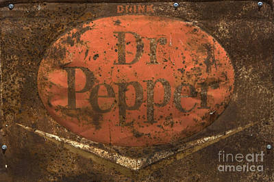 Vintage Auto Photograph -  Dr Pepper Vintage Sign by Bob Christopher