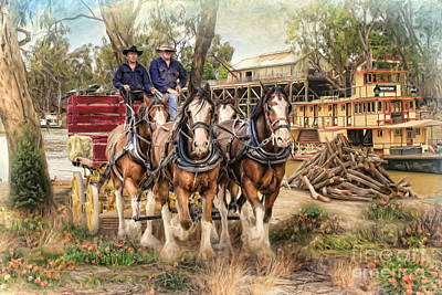Driving The Murray Art Print