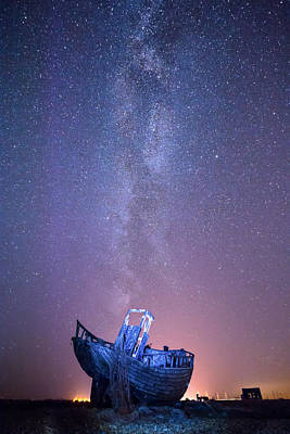 Dungeness Under The Milky Way  Art Print by Ian Hufton
