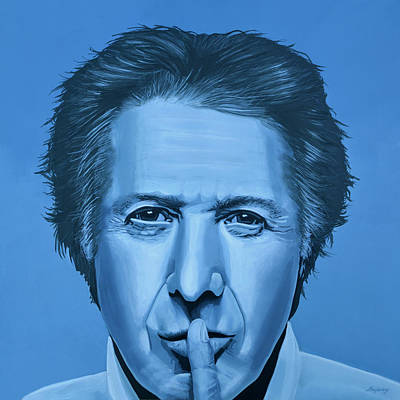 Dustin Hoffman Painting Print by Paul Meijering