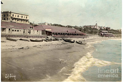 Photograph -  Eac-2675 Redondo Beach Beach Scene California E. A. Cohen Photo Circa 1906 by California Views Mr Pat Hathaway Archives