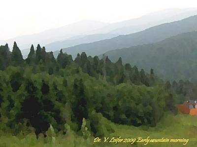 Early Mountain Morning Art Print by Dr Loifer Vladimir