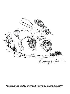 Easter Bunny Truth  Art Print