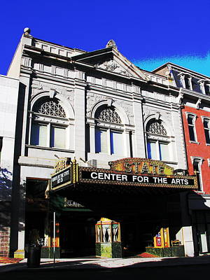 Easton Pa State Theater Center For The Arts Art Print by Jacqueline M Lewis