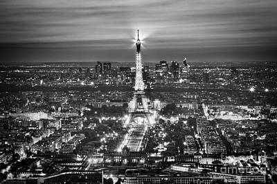 Paris Skyline Royalty-Free and Rights-Managed Images -  Eiffel Tower at night by Michal Bednarek