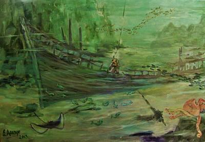 Art Print featuring the painting  El  Explorador  1 by Beth Arroyo