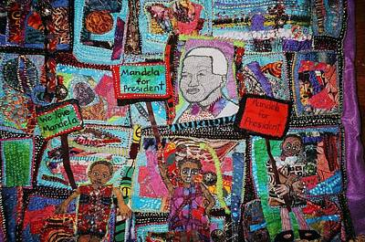 Tapestry - Textile -  Election Day by Gwendolyn Aqui-Brooks