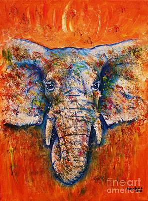 Painting -  Elephant by Anastasis  Anastasi