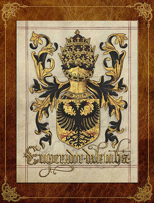 Digital Art -  Emperor Of Germany Medieval Coat Of Arms  by Serge Averbukh