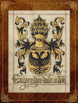 Deutsch Digital Art -  Emperor Of Germany Medieval Coat Of Arms  by Serge Averbukh