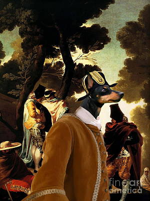 Toy Terrier Painting -  English Toy Terrier Art Canvas Print by Sandra Sij