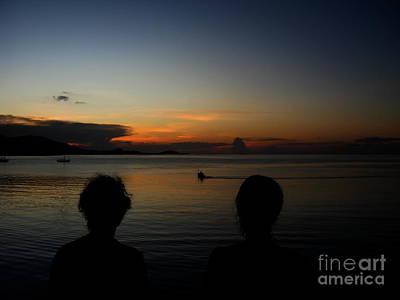 Enjoying Sunset Art Print by Michelle Meenawong