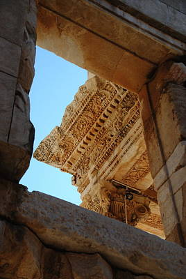 Photograph -  Ephesus - Window - Library Of Celsus by Jacqueline M Lewis