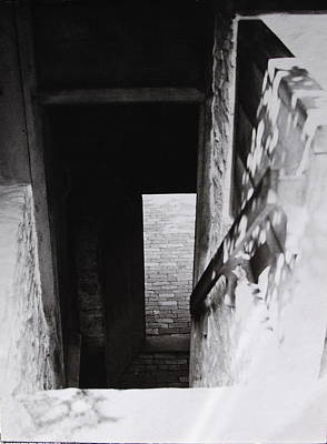 Art Print featuring the photograph  Ephrata Cloisters Stairway by Jacqueline M Lewis
