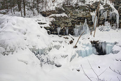 Photograph -  Erie Falls Under Old Man Winter's Spell by Gene Walls