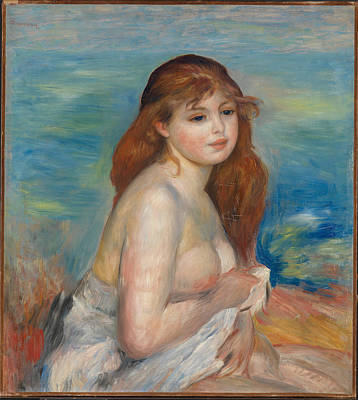 After The Bath Renoir Painting - After The Bath by Pierre-Auguste Renoir