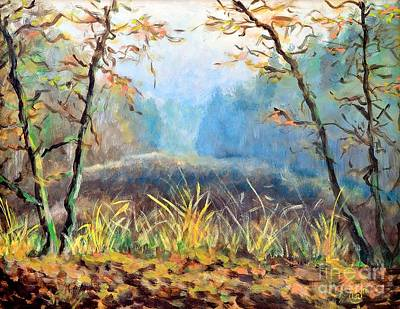 Beautiful Scenery Painting -  Evening Forest by Martin Capek