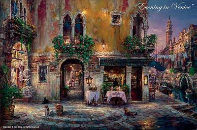 Painting -  Evening Venice by Cao Yong