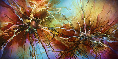 Abstract Energy Art Painting - ' Evolution ' by Michael Lang