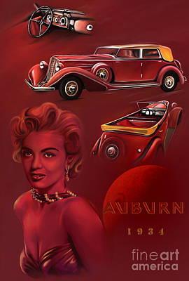 Exclusive  Auburn 1934  Original by Andrzej Szczerski