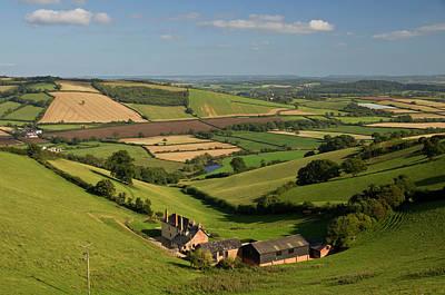 Exe Valley In Devon Art Print