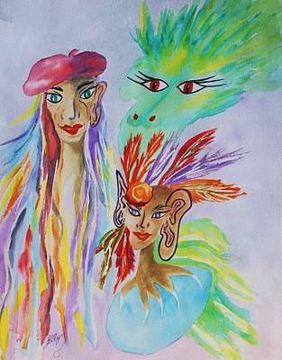Visionary Art Painting -  Expressionist Dream  by Ellen Levinson