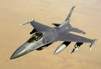 Army Reserves Photograph -  F-16 Fighting Falcon Block 40 Aircraft by Celestial Images