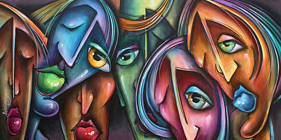 Mood Painting - ' Face Us 2' by Michael Lang