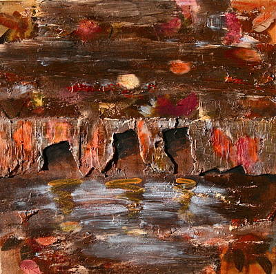 Painting -  Fall On River Nissan by Dan Koon