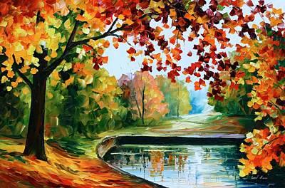 Oil Landscape Painting -  Far Hills by Leonid Afremov